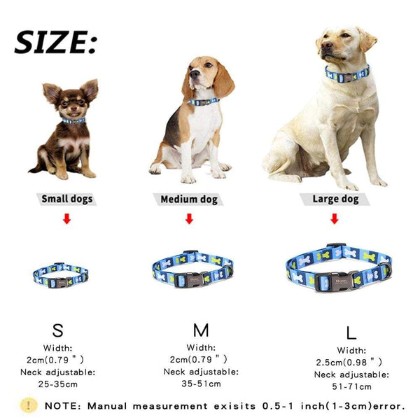 Personalized Nylon Customized Pet Id Tag Collar - Max and Maci's Store