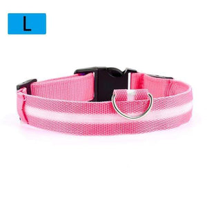 Max and Maci's Store Dog Collar Pink / L Dog Luminous Fluorescent Collars