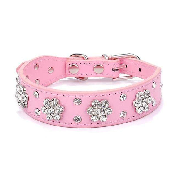 5Pcs Dog Collar Led Perro Bling Crystal Pu Leather - Max and Maci's Store