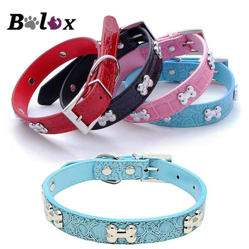 Max and Maci's Store Dog Collar PU Leather Pet Collar For Puppy Cat