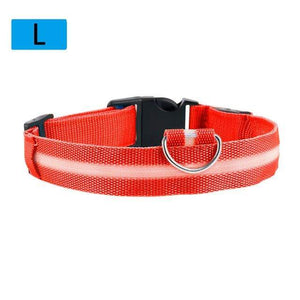 Max and Maci's Store Dog Collar Red / L Dog Luminous Fluorescent Collars