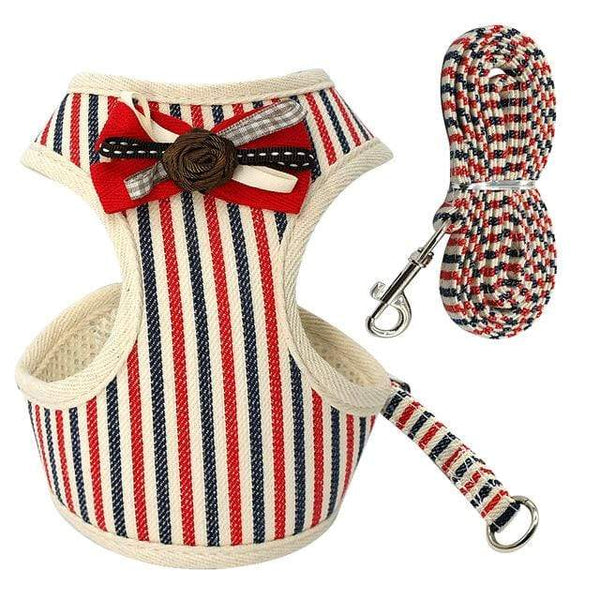 Soft Mesh Puppy Dog Harness Leash Set With Bell - Max and Maci's Store