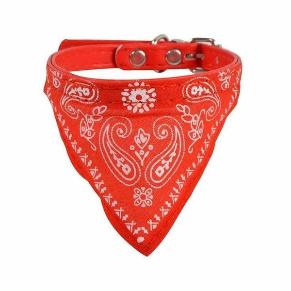 Max and Maci's Store Dog Collar Red / S Adjustable Pet Dog Puppy Cat Neck Scarf