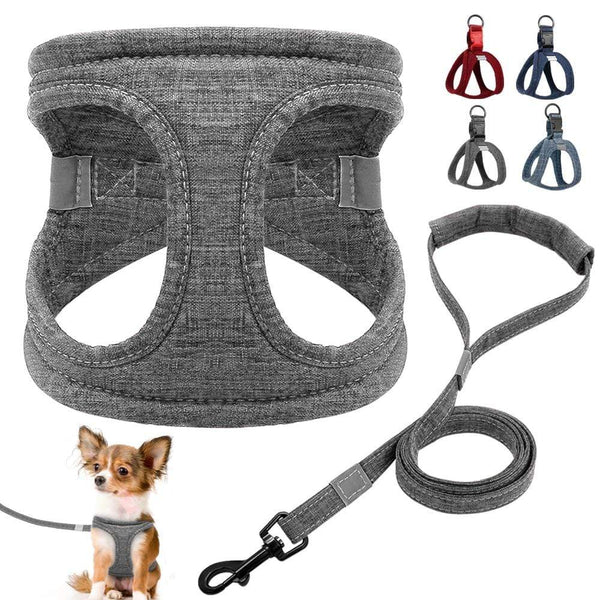Reflective Pet Harness And Leash Set Soft Padded - Max and Maci's Store