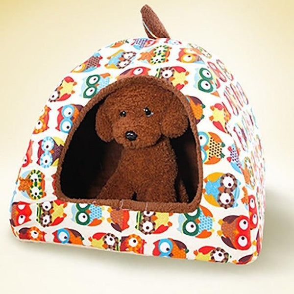 Hot Fleece Soft Yurt Home Dog Bed House - Max and Maci's Store