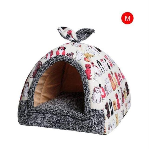 Hot Fleece Soft Home Dog House With Mat - Max and Maci's Store