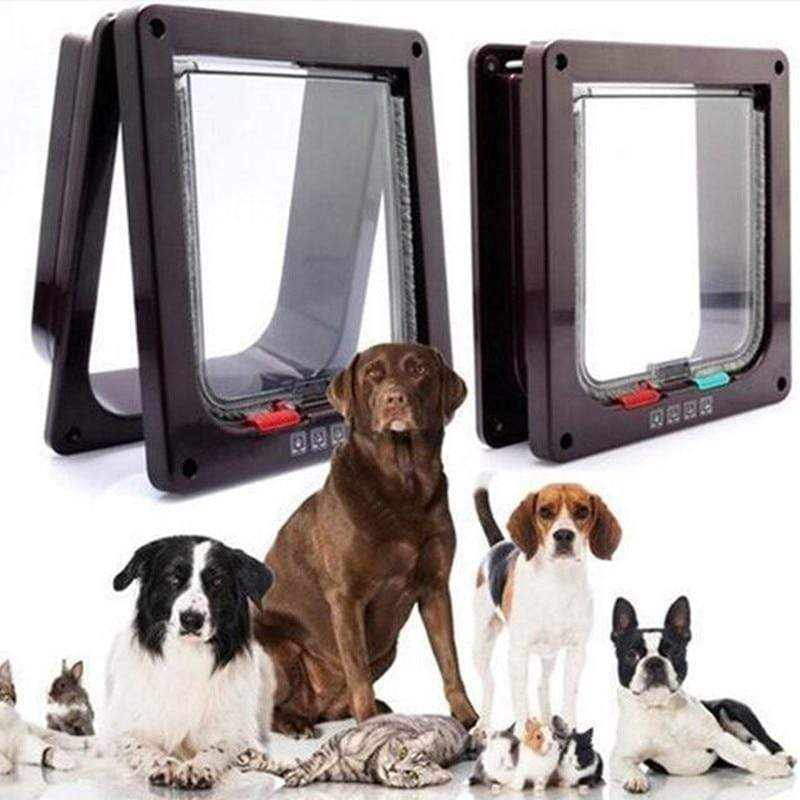 Max and Maci's Store Dog Doors, Houses & Furniture 4 Way Lockable Dog Kitten Door For Security