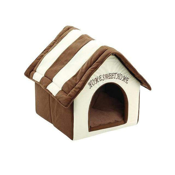 Dog House Portable Indoor Pet Bed Soft Warm And Comfortable Cat Dog Sweet Room Pet House Dogs Beds With Pillow Sofa Sleeping - Max and Maci's Store