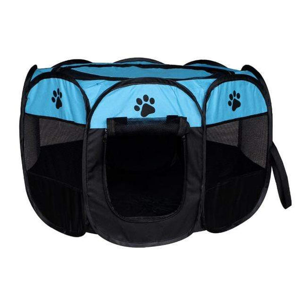 Max and Maci's Store Dog Doors, Houses & Furniture Blue / 91X91X58cm Portable Pet Tent Folding Dog House