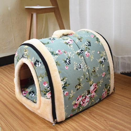 Travelling Kennels Basket Dog Bed With Print Mat - Max and Maci's Store