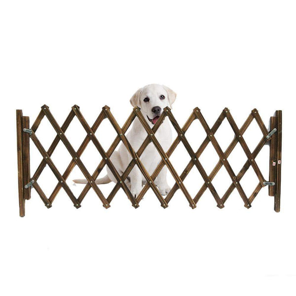 Carbonized Fence Retractable Folding Dog Gate - Max and Maci's Store