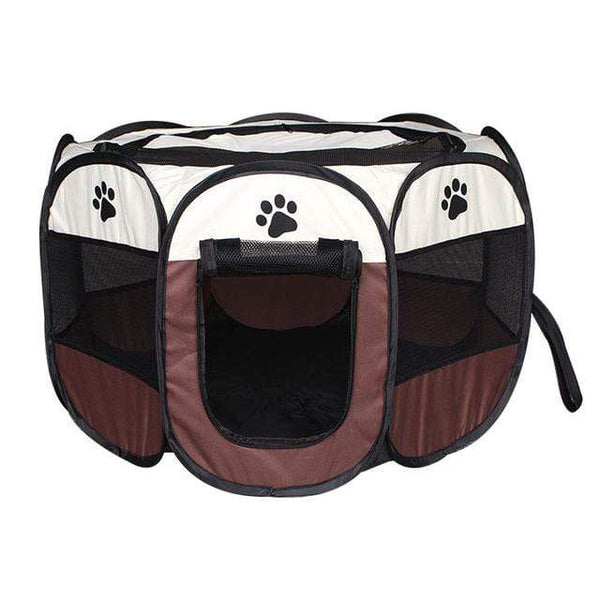 Max and Maci's Store Dog Doors, Houses & Furniture Coffee / 91X91X58cm Portable Pet Tent Folding Dog House