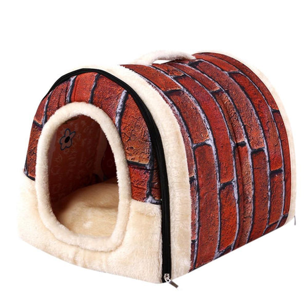 Dog Cat Bed House Warm Soft Mat - Max and Maci's Store