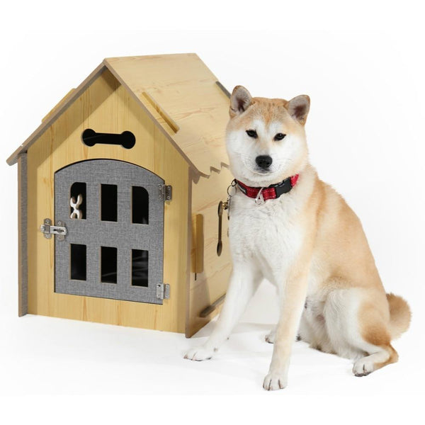 Dog Solid Wood House - Max and Maci's Store