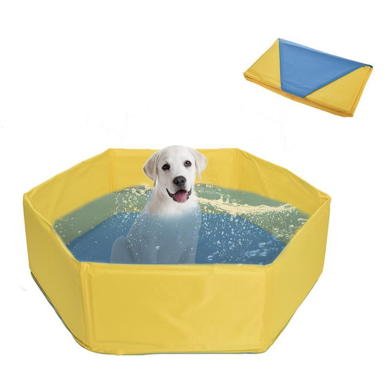 Max and Maci's Store Dog Doors, Houses & Furniture Foldable Bath Swimming Dog Pool