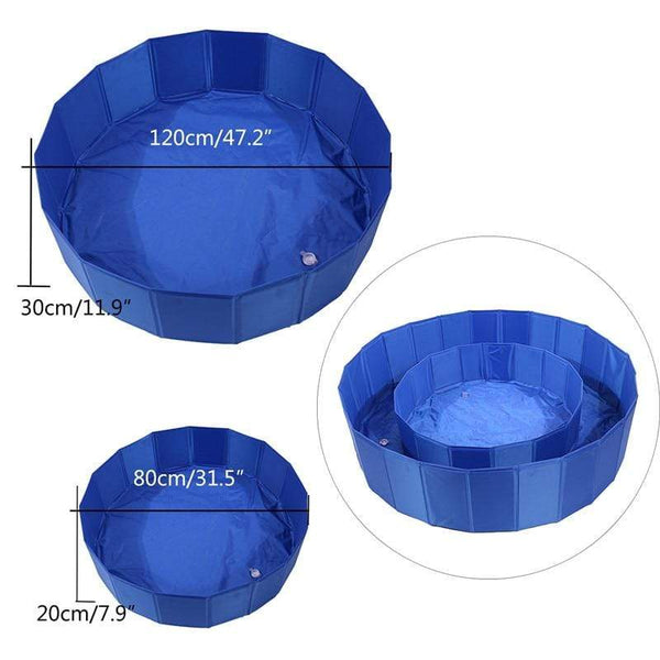 Foldable Round Swimming  Pets Pool - Max and Maci's Store