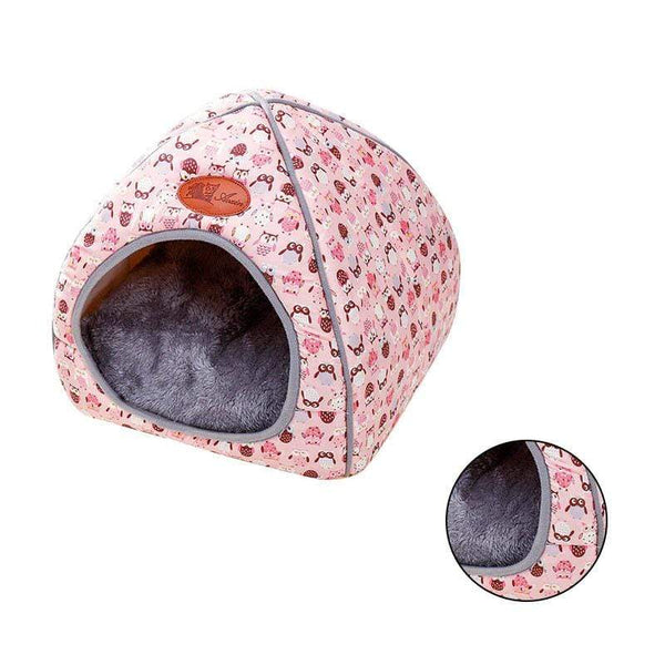 Foldable Soft Warm Sponge Cave Cute Dog Beds - Max and Maci's Store