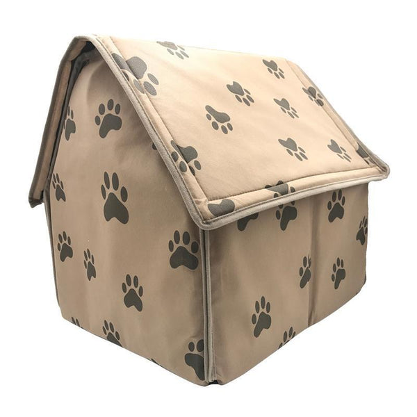 Foldable Warm Soft Footprint Dog House - Max and Maci's Store
