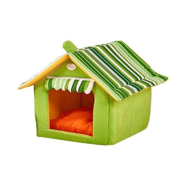 Foldable Soft Warm Sponge Cave Cute Dog House - Max and Maci's Store