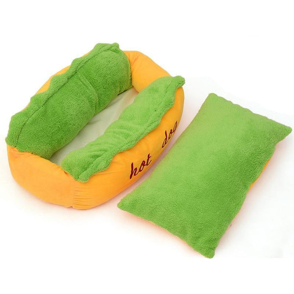 Hot Dog Bed For Small Large Dog - Max and Maci's Store