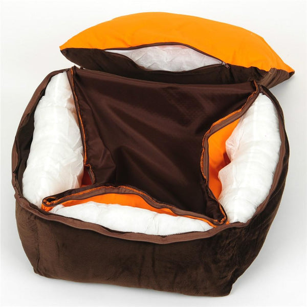 Luxury Dog Bed With Pillow Blanket - Max and Maci's Store