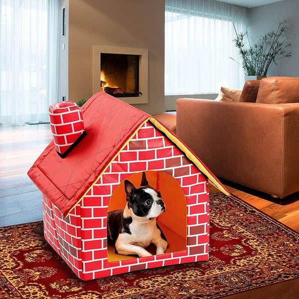 Max and Maci's Store Dog Doors, Houses & Furniture Red / 39x40.5x44cm Foldable Dog House Pet Bed