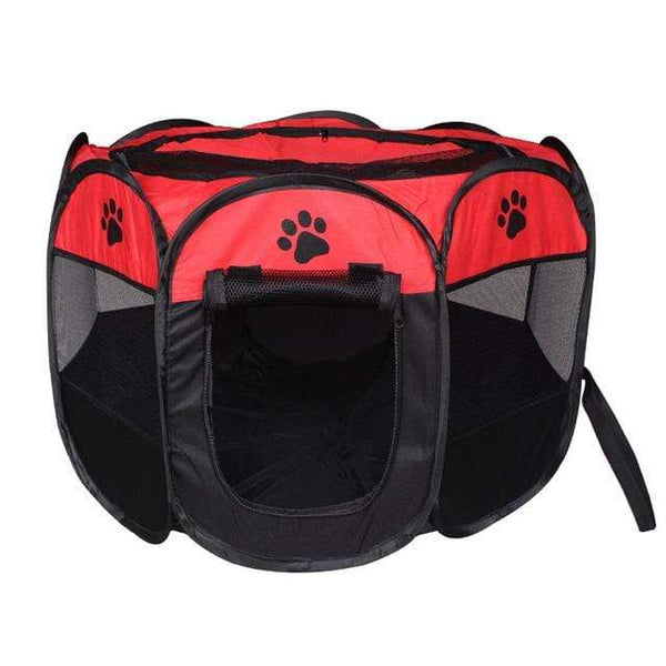 Max and Maci's Store Dog Doors, Houses & Furniture Red / 91X91X58cm Portable Pet Tent Folding Dog House