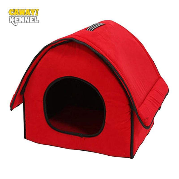 Red And Black Soft Dog House - Max and Maci's Store