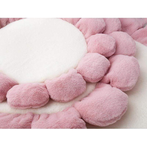 Super Soft Round Velvet Flower Dog Mat - Max and Maci's Store