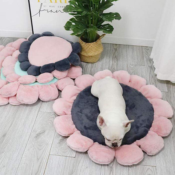 Max and Maci's Store Dog Doors, Houses & Furniture Super Soft Round Velvet Flower Dog Mat