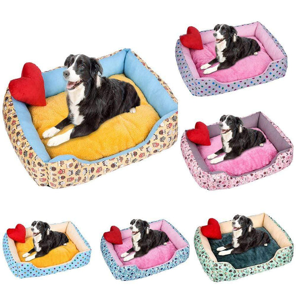 Warm Corduroy Padded Dog Bed - Max and Maci's Store