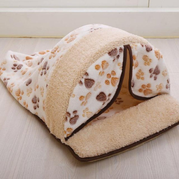 Detachable Print Dog Sleeping Bag Or Foldable Kitten House - Max and Maci's Store