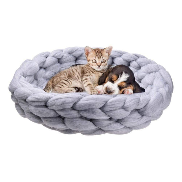Woolen Knitting Kennel Hand-Knitted Dog Sofa - Max and Maci's Store