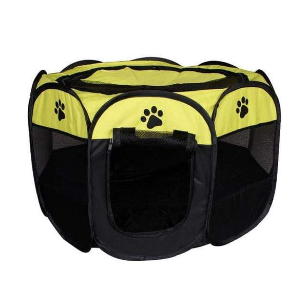 Max and Maci's Store Dog Doors, Houses & Furniture Yellow / 91X91X58cm Portable Pet Tent Folding Dog House