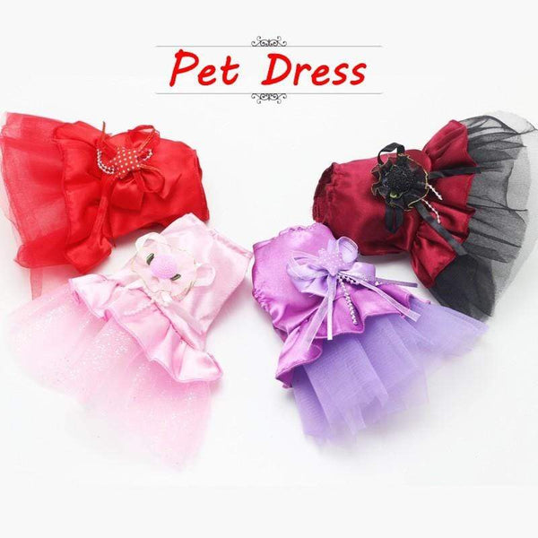 New Summer Pink Purple Lace Dress Skirt Dogs Princess Dresses - Max and Maci's Store