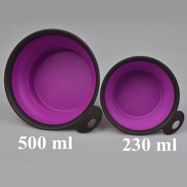 500Ml Folding Portable Dog Silicone Bowl - Max and Maci's Store