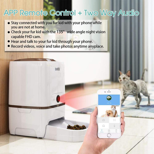 Max and Maci's Store Dog Feeding 6L Pet Feeder Wifi Remote Control