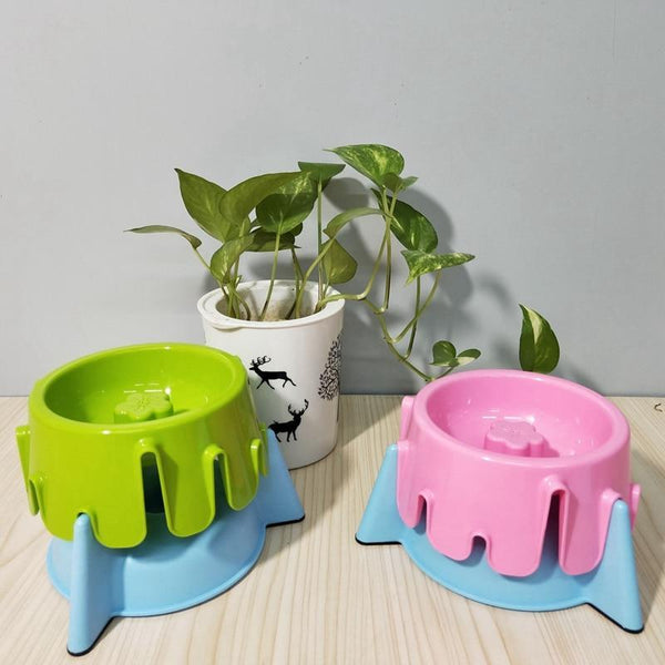 Max and Maci's Store Dog Feeding Adjustable Dog Height Water Bowl Food Dish