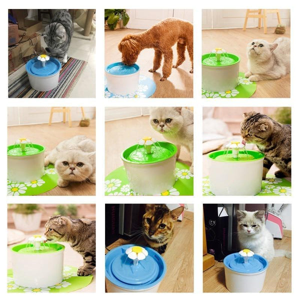 Automatic Pet Feeder Flower Dog Electric Fountain - Max and Maci's Store