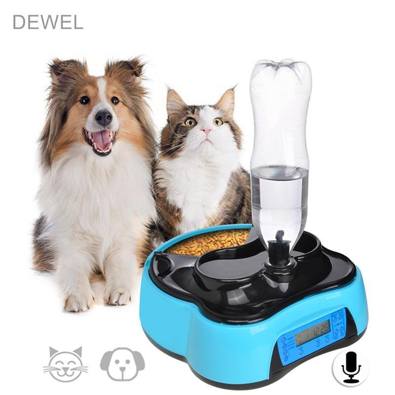 Max and Maci's Store Dog Feeding Automatic Pet Food Water Feeder With Voice Recording