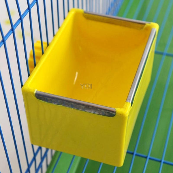 Dog Feeding Bowl Rectangle Plastic Fix Cage - Max and Maci's Store