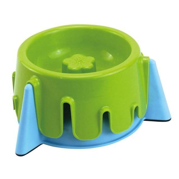 Max and Maci's Store Dog Feeding Green blue Adjustable Dog Height Water Bowl Food Dish