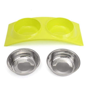 Max and Maci's Store Dog Feeding GREEN Pink/Blue/Green Pet Dog Bowl