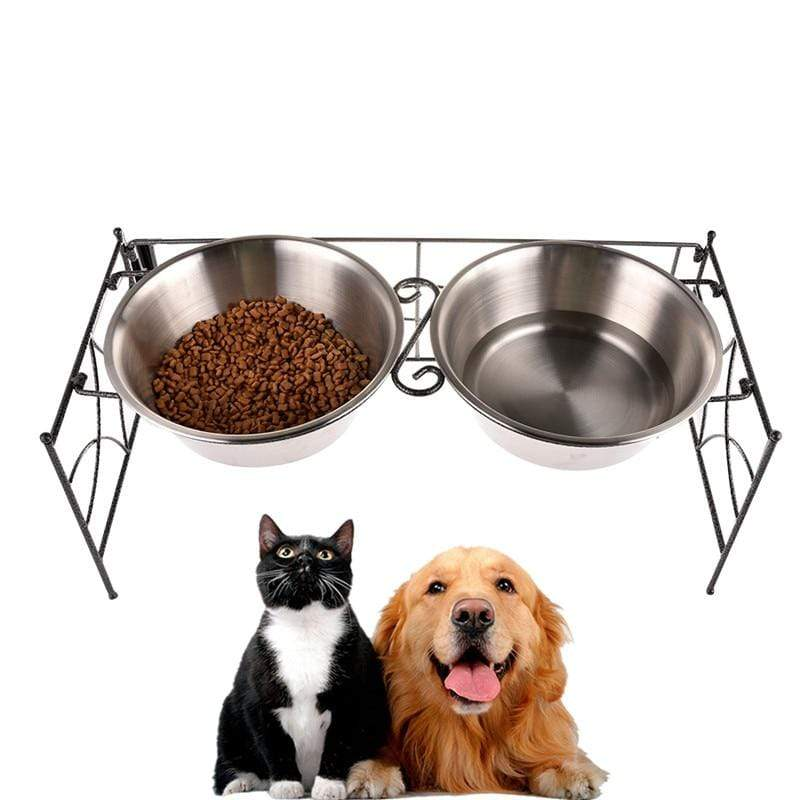 Max and Maci's Store Dog Feeding High Quality Stainless Steel Double Pet Bowls Feeder