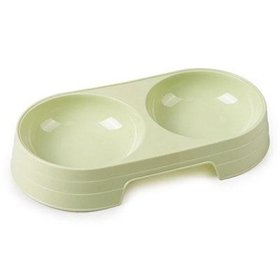 Durable Candy Color Plastic Dog Double Bowls For Feeding - Max and Maci's Store