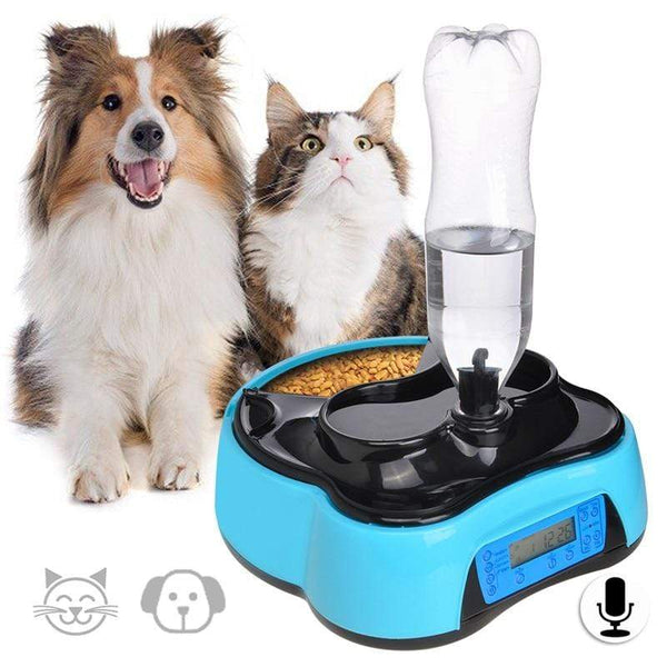 Pet-U Automatic Pet Food Water Feeder With Voice Recording - Max and Maci's Store