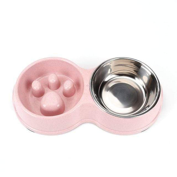 Stainless Steel Dog Double Bowls Feeding And Drinking - Max and Maci's Store