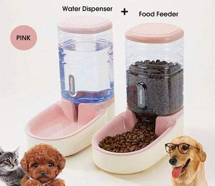 3.8L Automatic Dog Feeder Large Capacity Water Dispenser - Max and Maci's Store