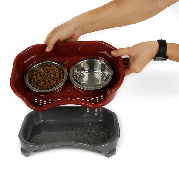 Max and Maci's Store Dog Feeding Stainless Steel Travel Feeding Dog Bowl Feeder