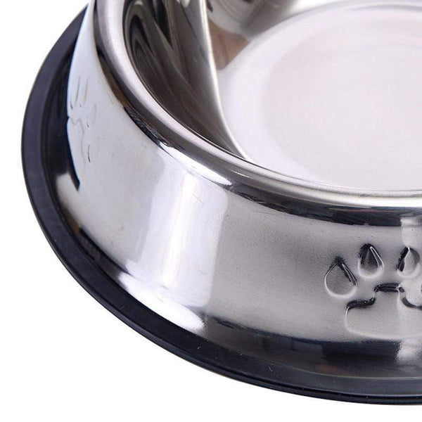 Stainless Steel Water Food Dog Feeding Drinking Bowl - Max and Maci's Store